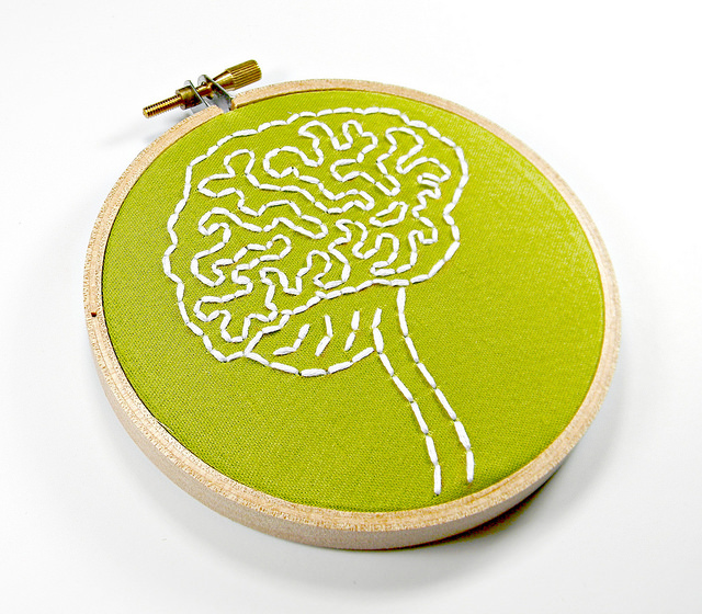 Brain anatomy hoop art